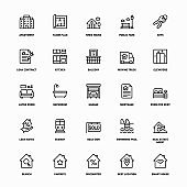 Outline Icon Set of Real Estate