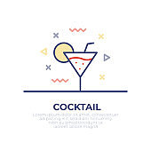 Cocktail Outline Icon