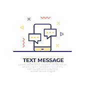 Text Message Outline Icon