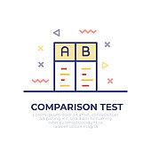 Comparison Test Outline Icon