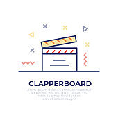 Clapperboard Outline Icon