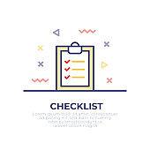 Checklist Outline Icon
