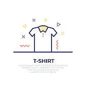T-Shirt Outline Icon Design