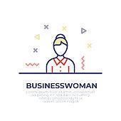 Businesswoman Outline Icon