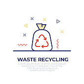 Waste Recycling Outline Icon