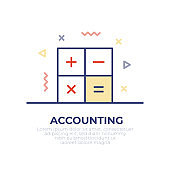 Accounting Outline Icon Design