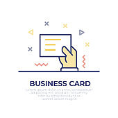 Business Card Outline Icon