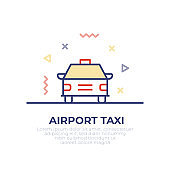 Airport Taxi Outline Icon Design