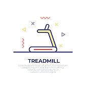 Treadmill Outline Icon