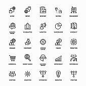 Global Trade Line Icons