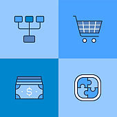 Business And Marketing Multi Color Icons
