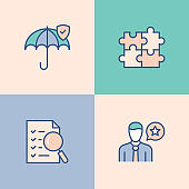 Business Ethics Multi Color Icons