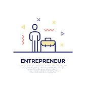 Entrepreneur Outline Icon