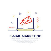 E-Mail Marketing Outline Icon