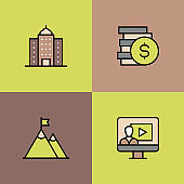 Business Multi Color Icons