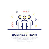 Business Team Outline Icon