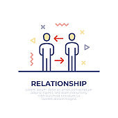 Business Relationship Outline Icon