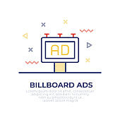 Billboard Ads Outline Icon