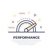 Performance Outline Icon Design
