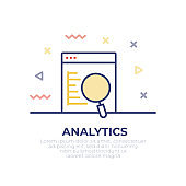 Analytics Outline Icon Design