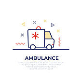 Ambulance Outline Icon Design
