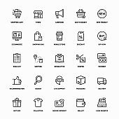 Outline Icon Set of E-Commerce