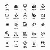 Financial Strategy Line Icons