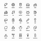 Food And Drink Line Icons