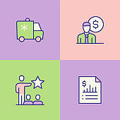 Employee Rights Multi Color Icons