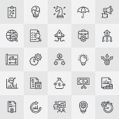 Business Plan Thin Line Icons