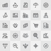 Investment Thin Line Icons