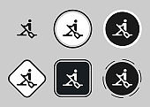 rowing icon . web icon set . icons collection flat. Simple vector illustration.