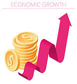 An Economic Growth concept vector Infographic.