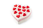 Heart cake for St. Valentine's Day, Mother's Day, or Birthday,