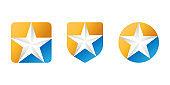 Abstract Star Logo icon Design Vector template. Simple and Elegant Star Logo design concept. Star Logo icon vector design template for business, branding, company, website, symbol, corporate, logo.