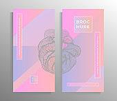 Cover design for flyer, poster, brochure, banner, magazine, book template set.