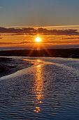 sea beach at sunset, Tsawwassen, Delta, BC, Canada