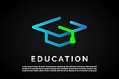 Letter G with incorporated graduation hat in it Education Logo Template