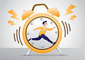 Compete with time illustration vector.
