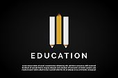 Three pens for Education Logo Template