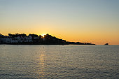 Marvelous sunrise at beautiful costal town Cadaques at Catalonia, Spain.