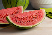 Fresh juicy slices of a red watermelon