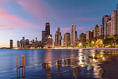 Chicago Skyline in Lake Michigan