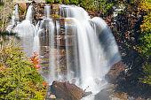 Whitewater Falls, North Carolina, USA in the autumn