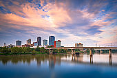 Little Rock, Arkansas, USA skyline on the River