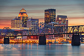 Louisville, Kentucky, USA skyline on the Ohio River