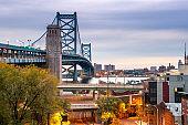 Philadelphia, Pennsylvania, USA at Benjamin Franklin Bridge