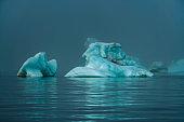 Huge blue iceberg in Kara Sea, Russia