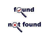 People search and identification concept with magnifying glass vector simple logo or icon.