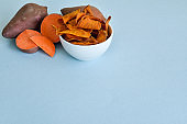 Sweet Potato Chips with Copy Space